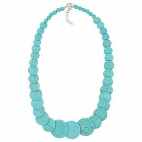 TURQ MULTI DISK NECKLACE ANC3795