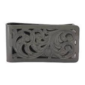MONTANA BLACK NICKEL FILIGREE MONEY CLIP MCL1BN