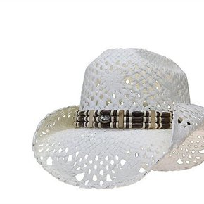 LONE STAR RIVER HAT WHITE STRAW SNL319