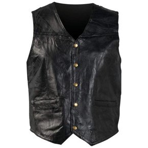 PIECED LEATHER VEST GFV
