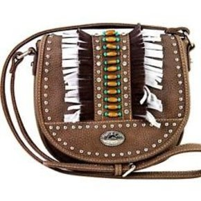 Montana West MW TQ FRINGE W/BEAD FLAP PURSE MW303-8287 TQ