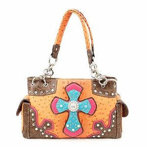 BLAZIN ROXX PURSE ORANGE W/ CROSS N7528626