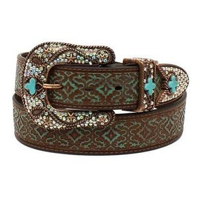 NOCONA BROWN & TURQ BELT N3497102