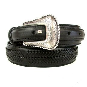 Nocona Belt Blk Weave N2476801