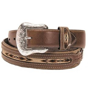 NOCONA BELT W FABRIC INLAY N2475702