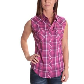 ELY SLEEVELESS PLAID 15324117-99A PINK