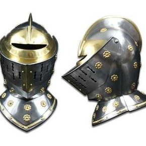 GOLDEN KNIGHT STEEL HELMET SE70041