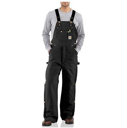 Carhartt Carhartt Quilt Lined Bib  Zip To Thigh R41BLK