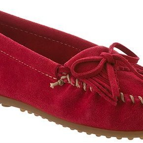 Minnetonka Moccasins MINNETONKA RED MOC MM406