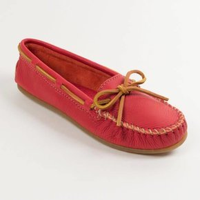 Minnetonka Moccasins MINNETONKA SMOOTH RED LEATHER 616
