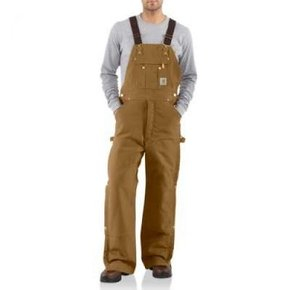 Carhartt Carhartt Quilt Lined Bib Zip To Thigh R41brn