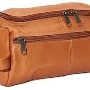 CHARLIE LEATHER TOILETRY CASE 24172