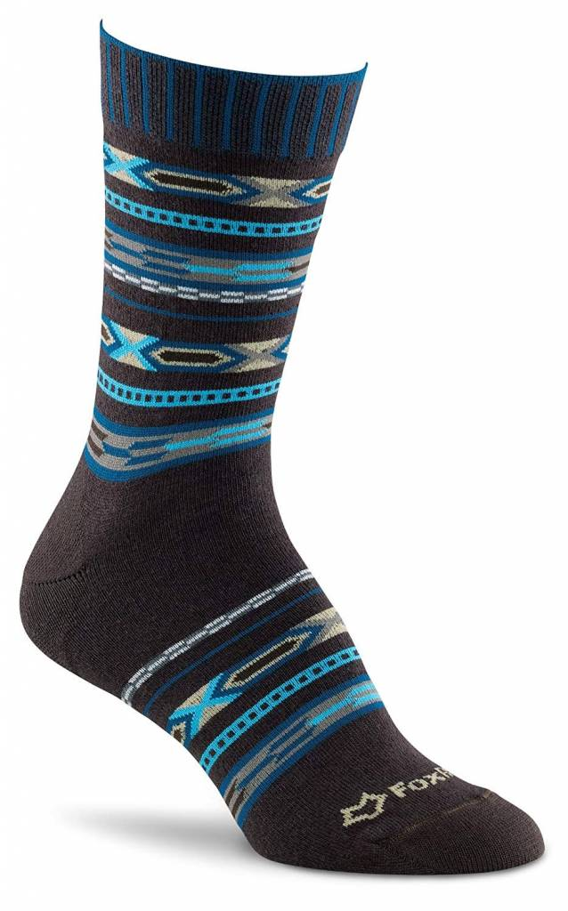 FOX RIVER MILLS LADIES AZTEC CREW SOCK MD06000 BR