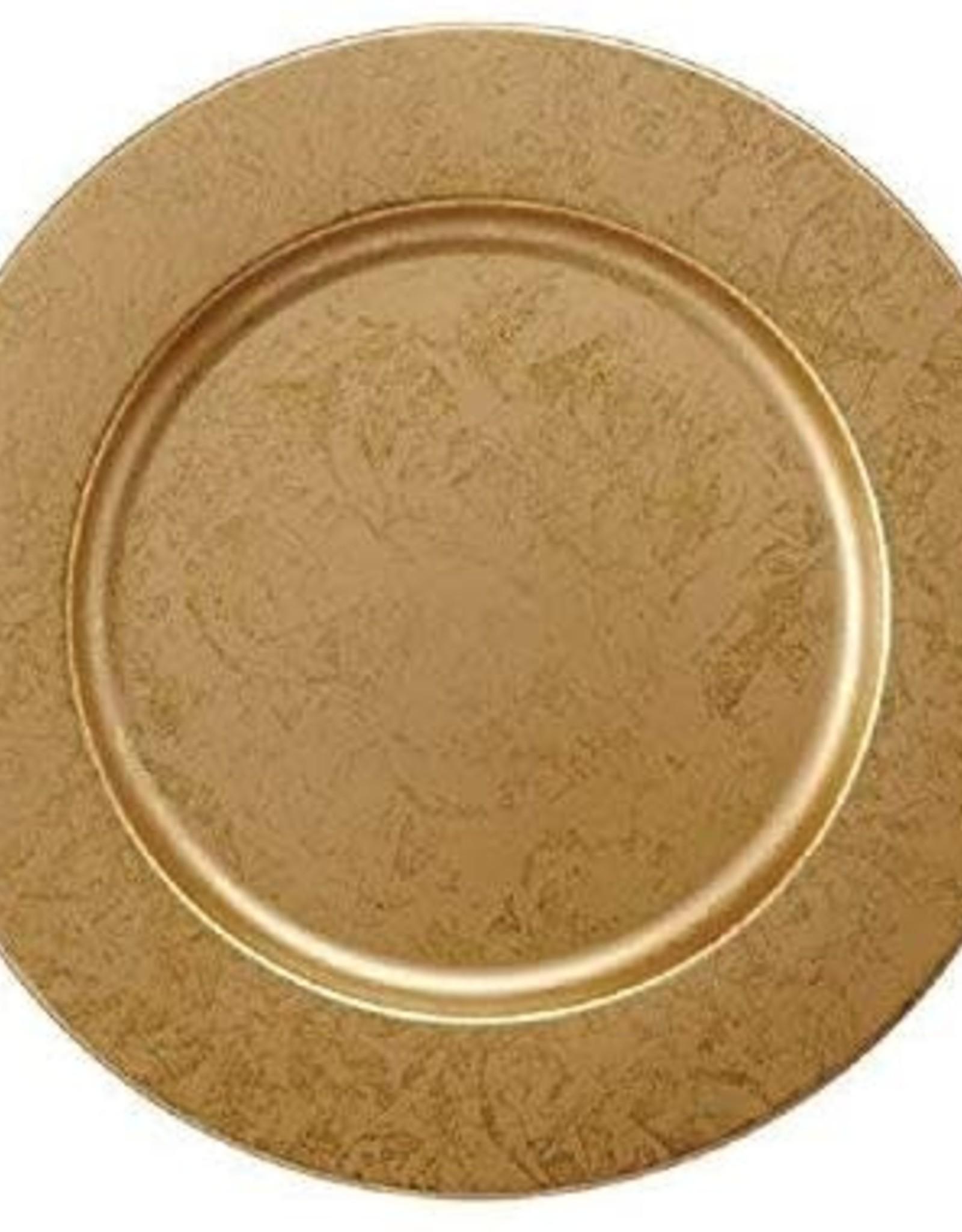Mud Pie Gold Metallic Charger