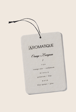 Aromatique Orange & Evergreen aroma card