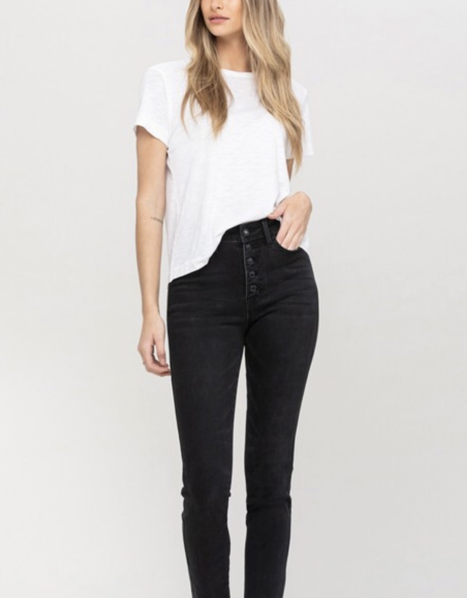 Vervet by Flying Monkey Skinny Jeans High Rise Button Fly