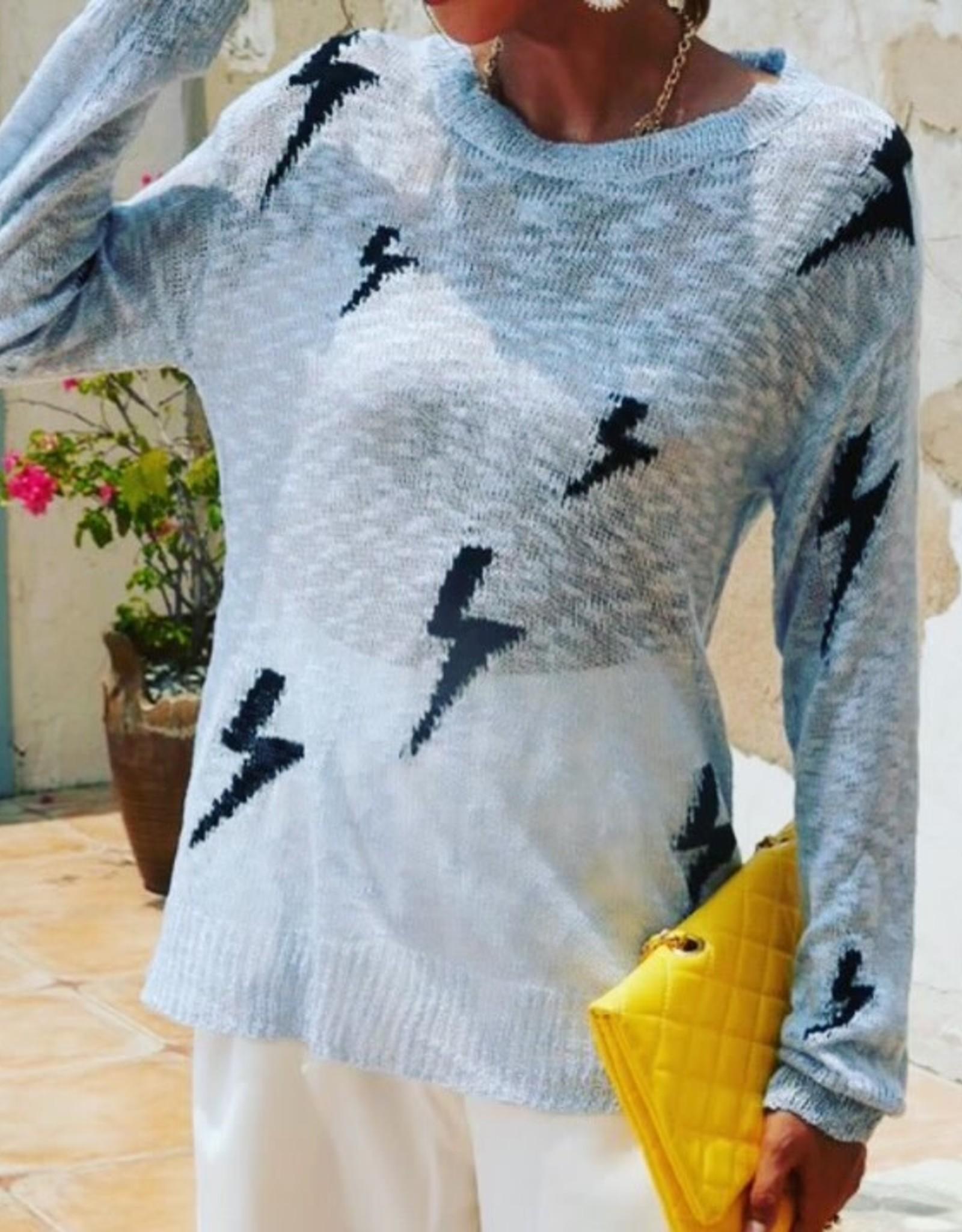 Lily Clothing Lightning Bolt Print Long Sleeve tee