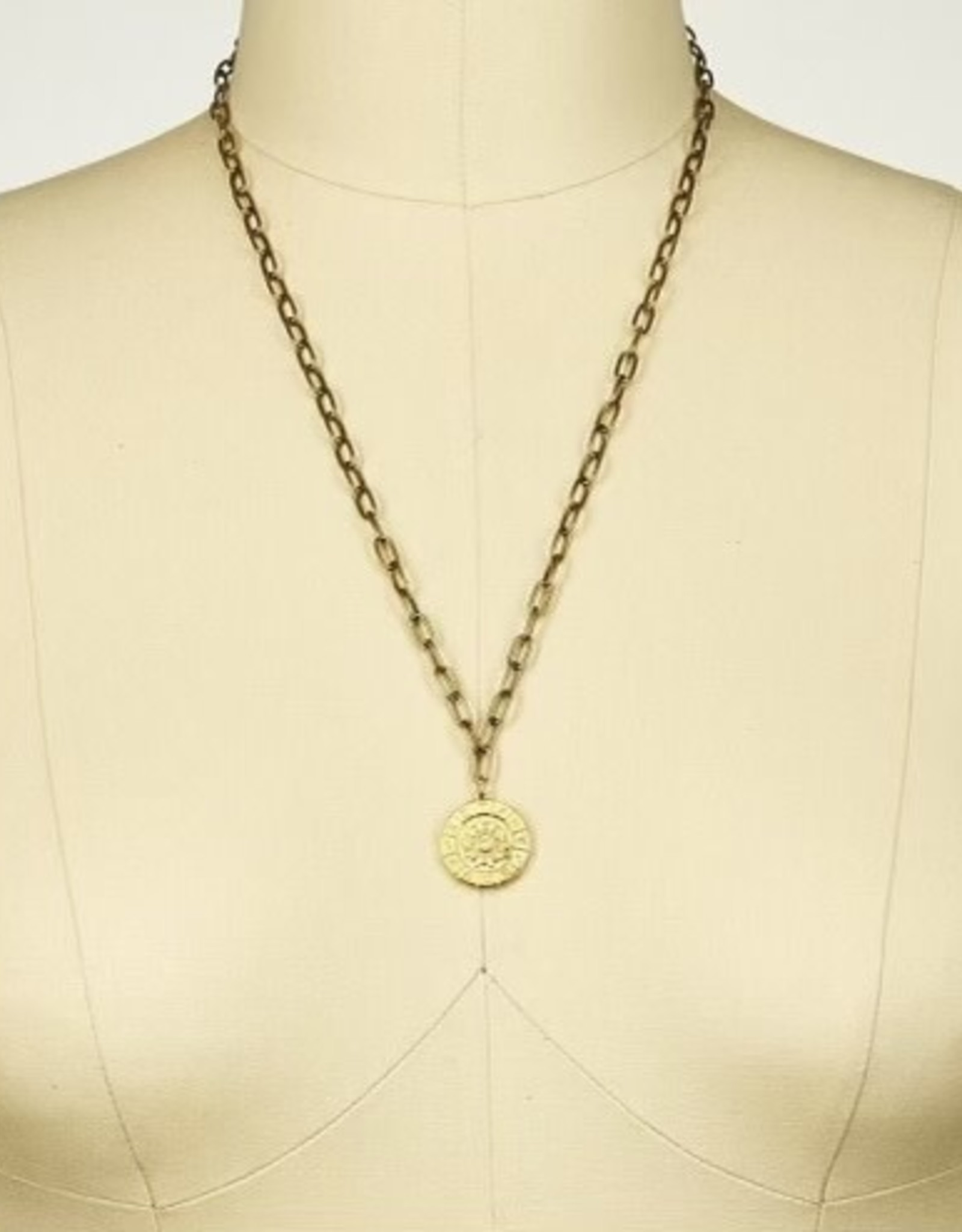"Julio Designs Julio-Cracker Jack- 24""paper clip chain pendant neck"