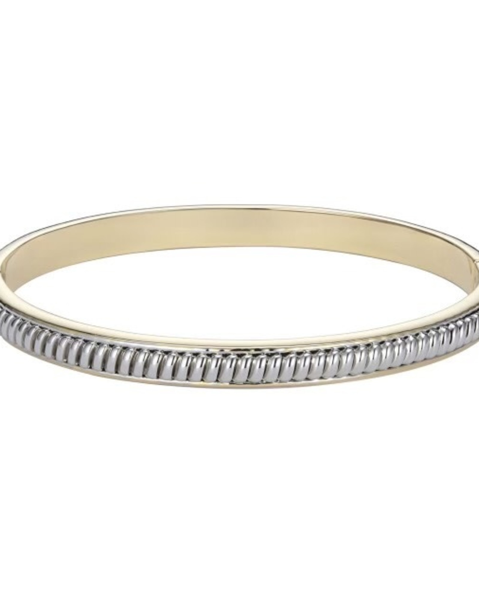 Gold and Silver Clasp Bangle Bracelet