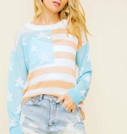 American Flag Lightweight sweater