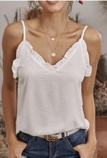 Lily Clothing Frill V-Neck Cami