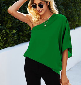 Kelly Green - One Shoulder Top