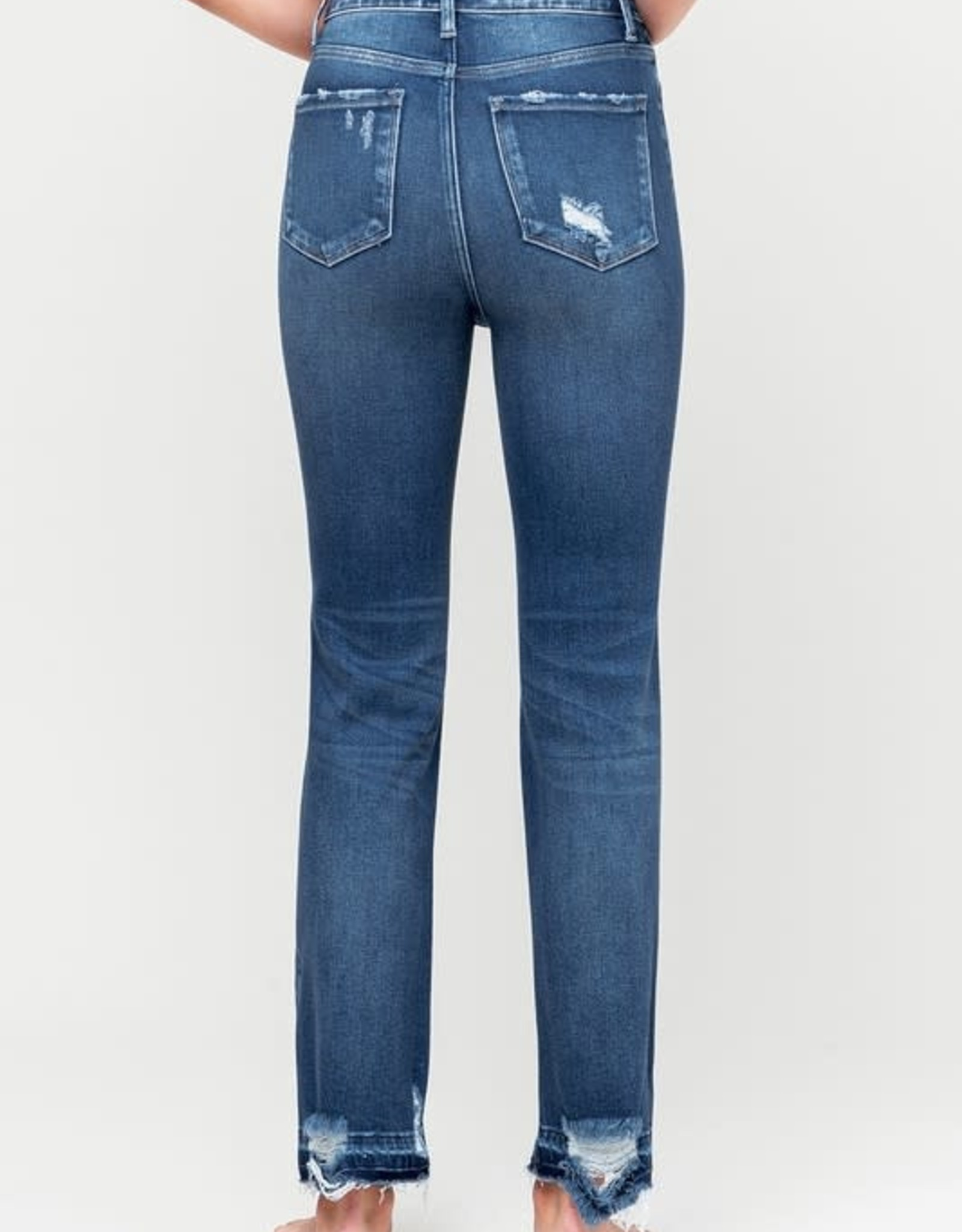Vervet by Flying Monkey Super High Rise Distressed Ankle Straight -