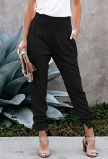 Shiying Fashion Pocketed Black Dressy Jogger -