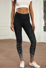 Shiying Fashion Dot Scattered Black Leggings
