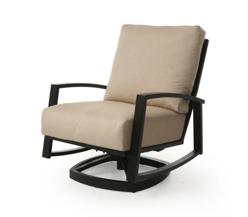 New Haven Cushion Spring Swivel Club Chair