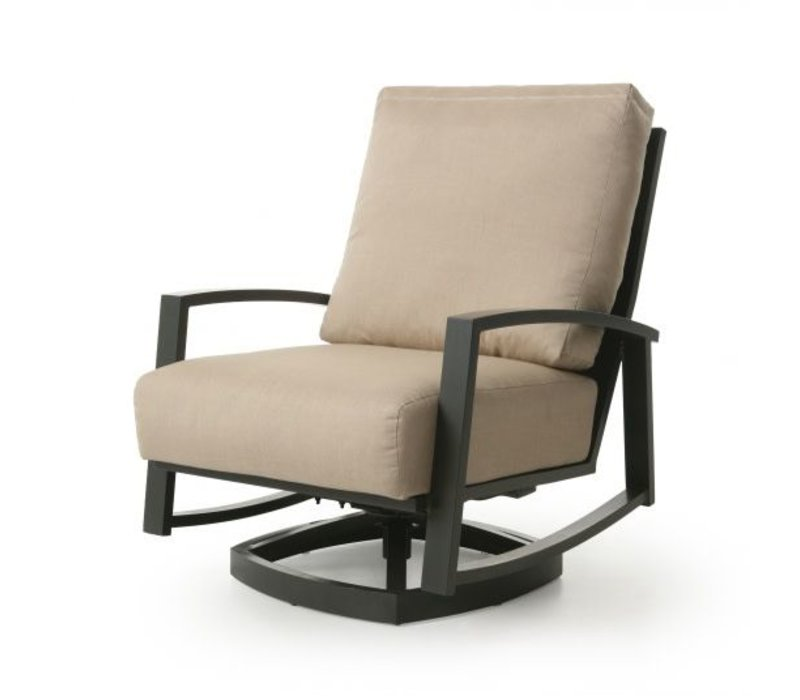 New Haven Woven Cushion Spring Swivel Club Chair