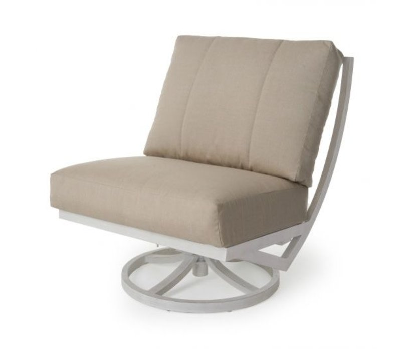 Rochelle Woven Cushion Spring Swivel Club Chair