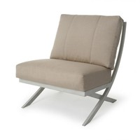 Rochelle Woven Cushion Armless Club Chair