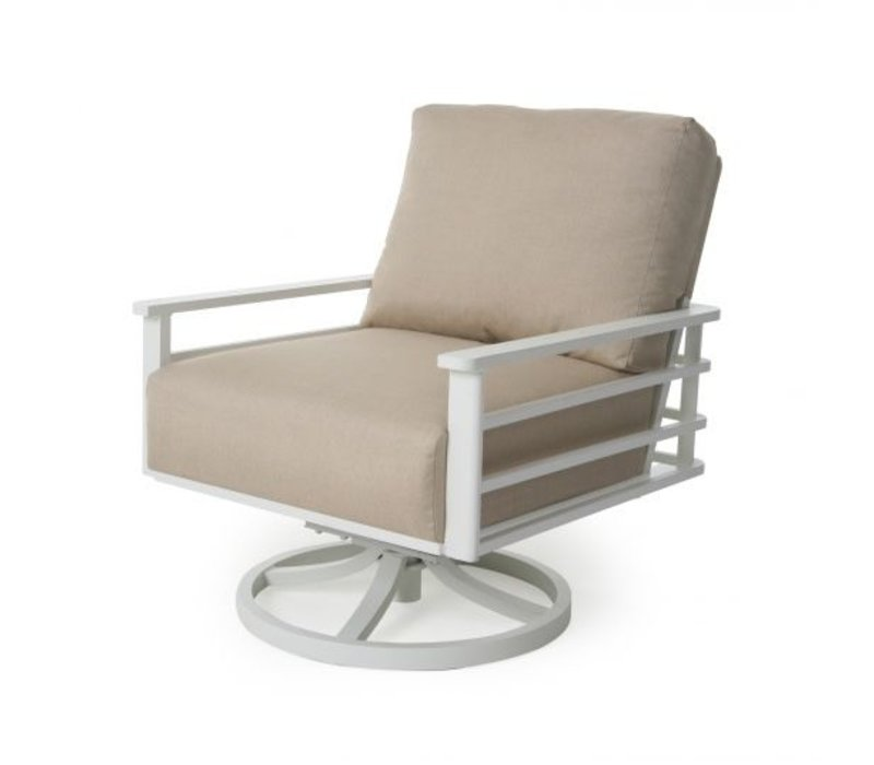 Sarasota Cushion Spring Swivel Club Chair