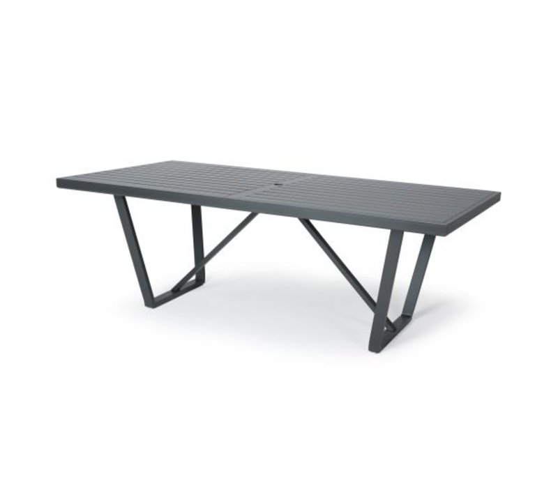Formosa 5000-Aluminium Dining Table 42 X 84 Rect