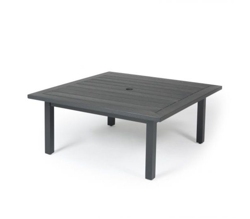 Trinidad W-Top-Aluminium Dining Table 48 Square