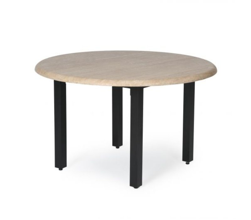 Trinidad T-Top-Travertine End Table 24 Round