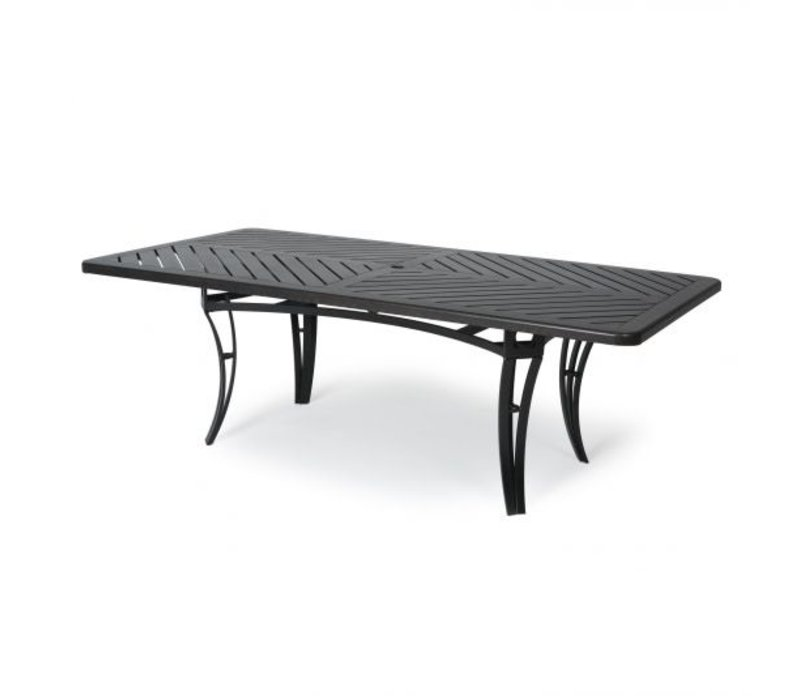 Salinas F-Top-Aluminium Coffee Table 24 X 42 Rect