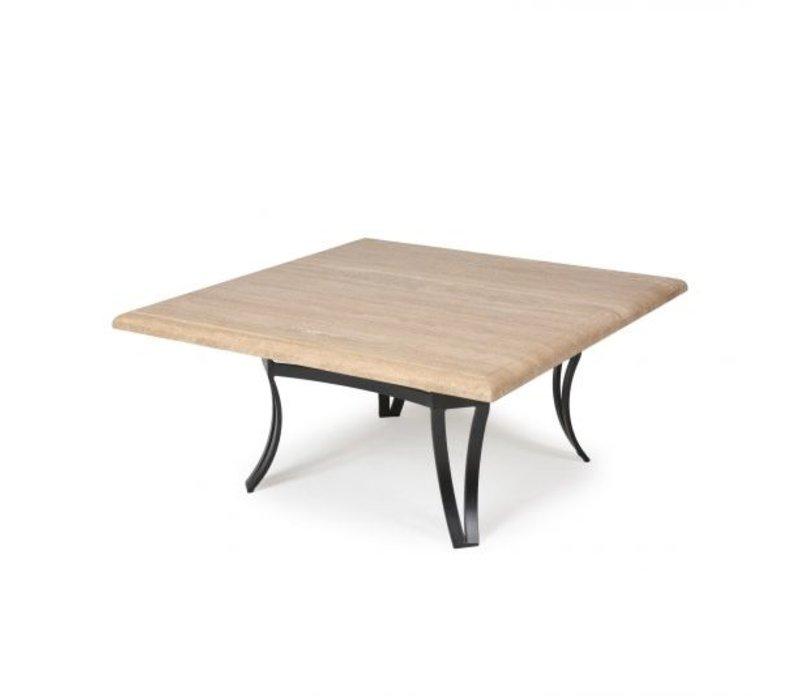 Salinas T-Top-Travertine Coffee Table 42 Square