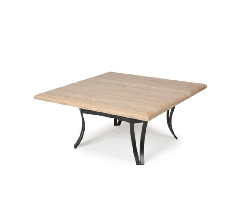 Salinas T-Top-Travertine Bar Height Table 27 Square