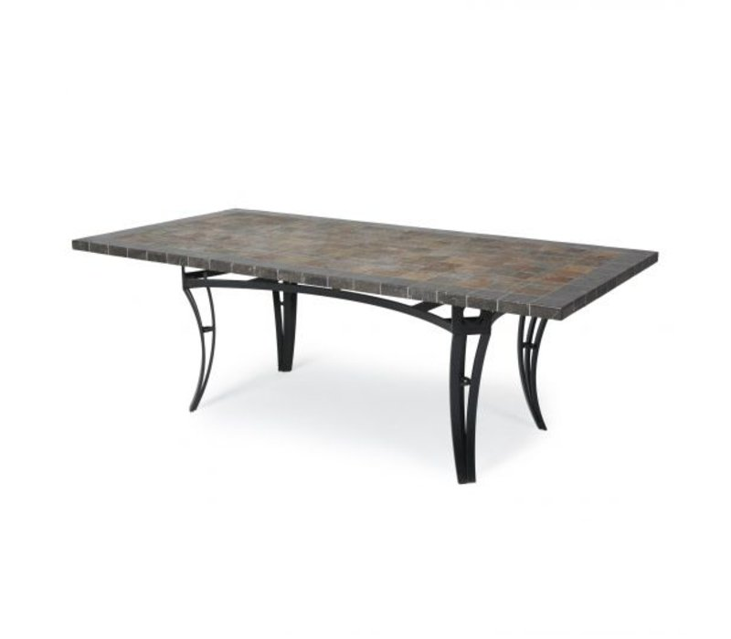 Salinas J-Top-Slate Bar Height Table 42 X 84 Rect