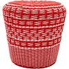 Surya Parkdale Stool Bright Orange/White (PKD001)