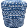 Surya Parkdale Stool Bright Blue/White (PKD005)
