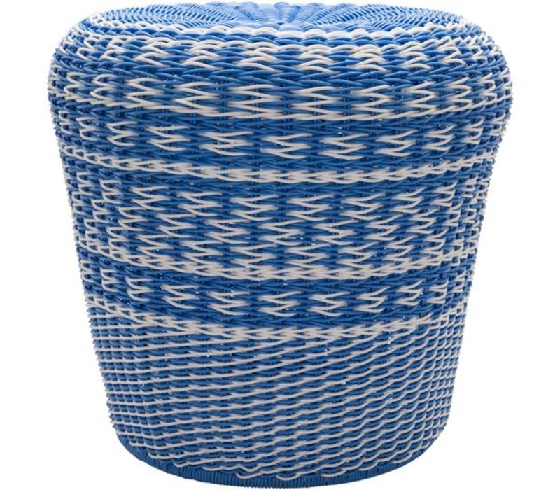 Parkdale Stool Bright Blue/White (PKD005)