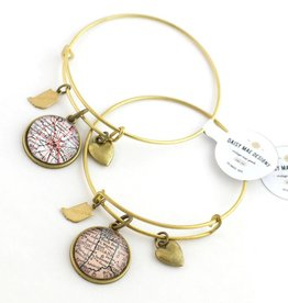 Daisy Mae Designs Indiana Map Charm Bracelet