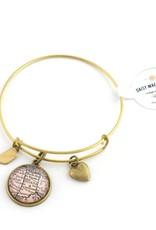 Daisy Mae Designs Indiana Map Charm Bracelet