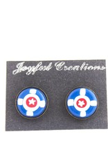 Joyful Creations Indianapolis Flag Clay Cufflinks