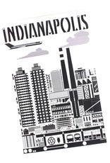 Indygenous INDIANAPOLIS (Black & White) Postcard