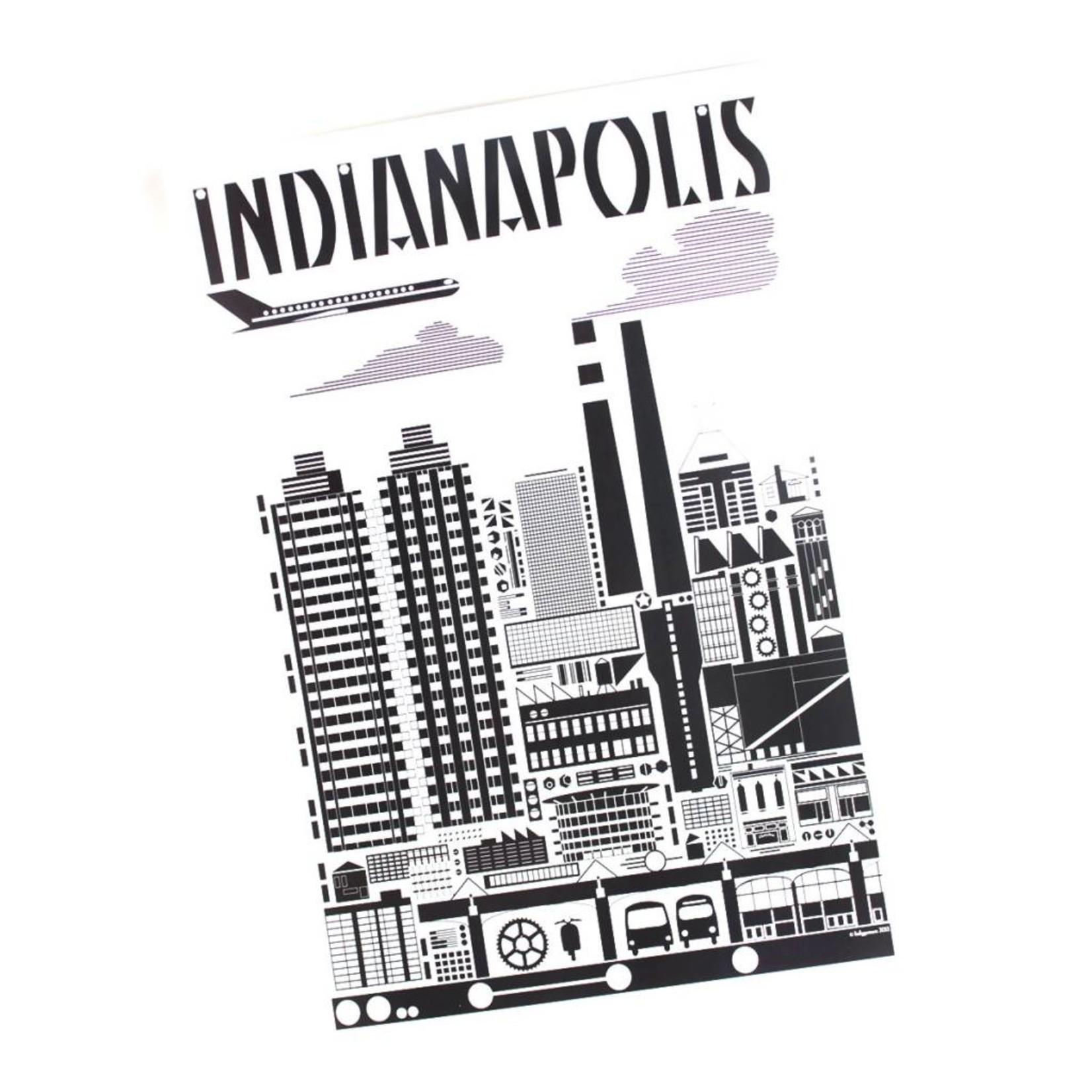 Indygenous INDIANAPOLIS (Black & White) Postcard