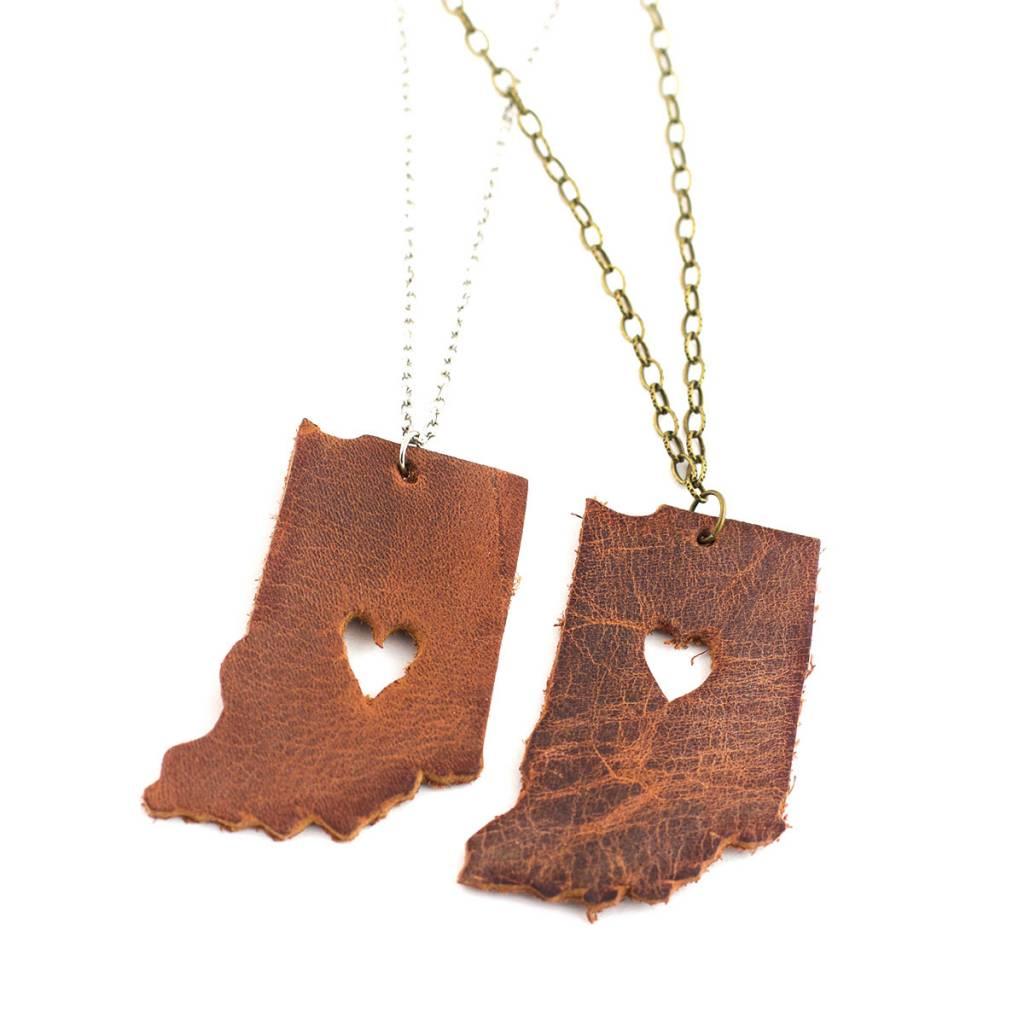 Joyful Creations Leather Indiana Necklace - Brass